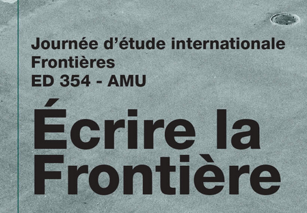 Journée d'étude : Écrire la frontière